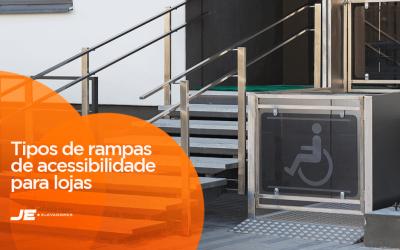 Quais são os tipos de rampas de acessibilidade para lojas?