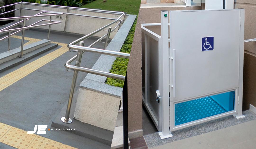 Elevador de acessibilidade ou rampa? Qual é o melhor?