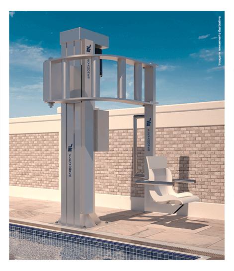 Elevador de Acessibilidade para Piscina - Tecnologia que garante a segurança
