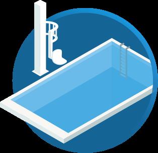Elevador de Acessibilidade para piscina